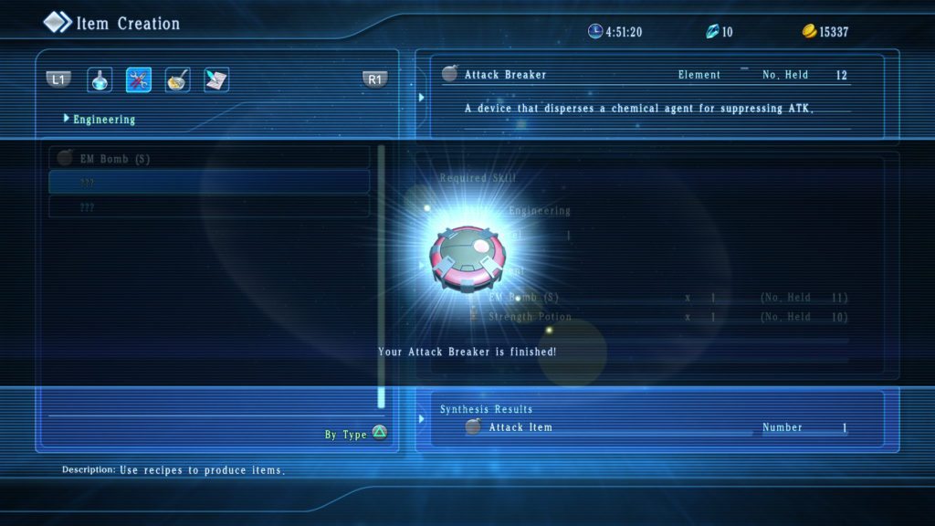 Star Ocean 5 Item Creation
