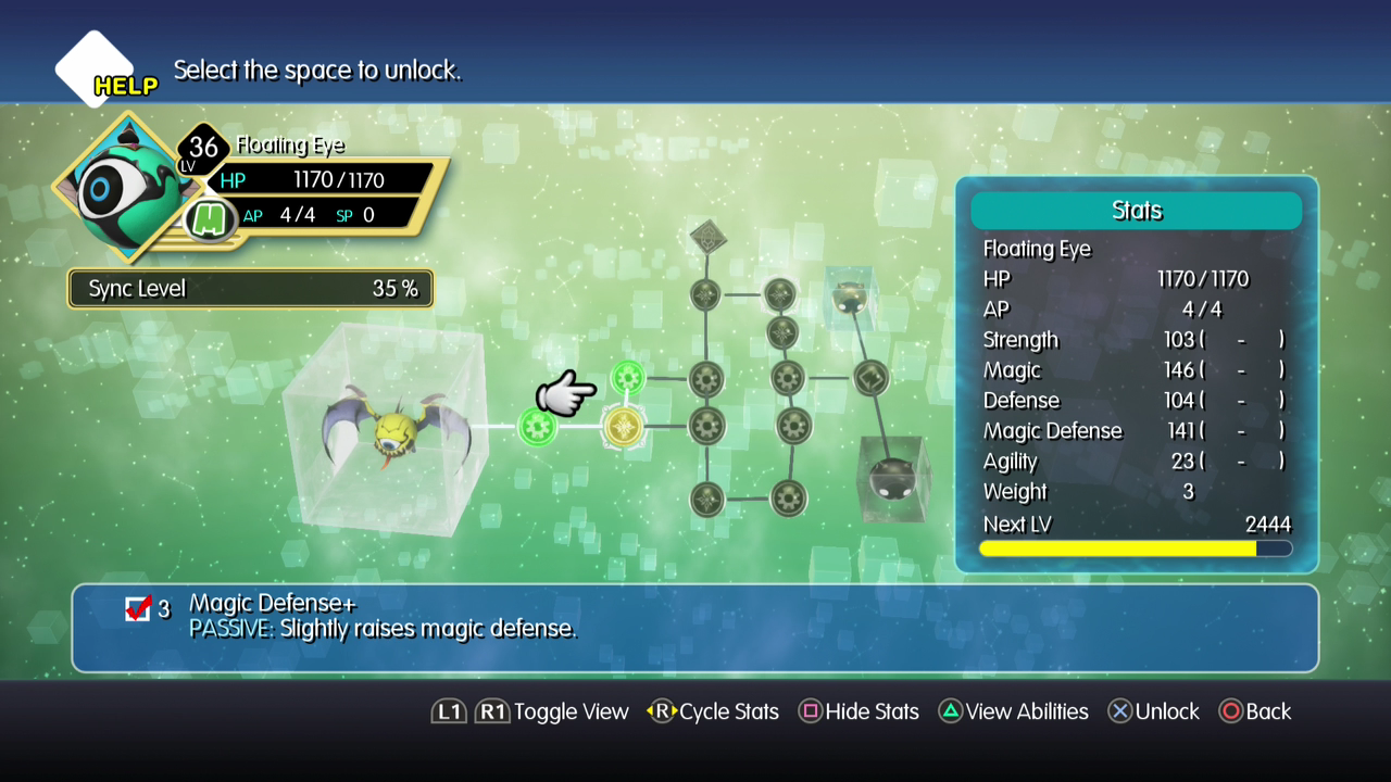 World of Final Fantasy Upgrade Board